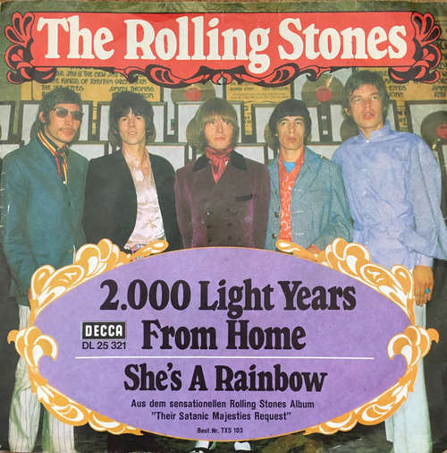 Cover The Rolling Stones - 2.000 Light Years From Home (7, Single) Schallplatten Ankauf