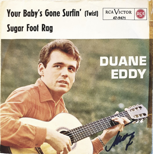 Cover Duane Eddy - Your Baby's Gone Surfin' / Shuckin' (7, Single) Schallplatten Ankauf