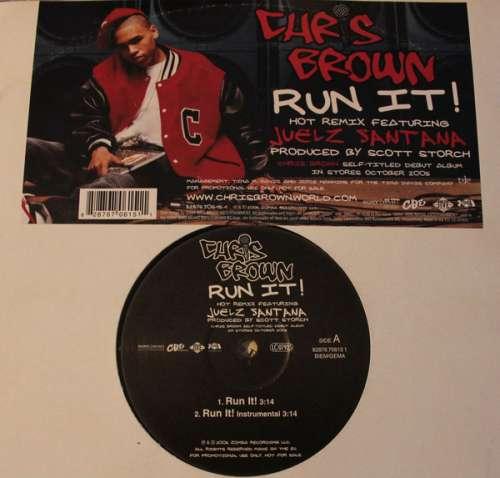 Bild Chris Brown (4) Featuring Juelz Santana - Run It! (Hot Remix) (12, Promo) Schallplatten Ankauf
