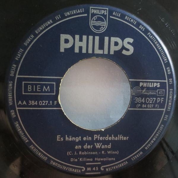 Cover Die Kilima Hawaiians* - Es Hängt Ein Pferdehalfter An Der Wand / Cowboys Wiegenlied (7, Single, Mono) Schallplatten Ankauf
