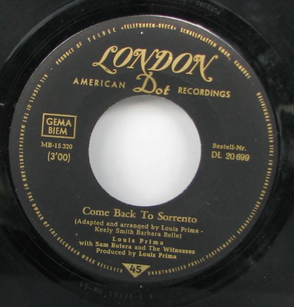Bild Louis Prima - Come Back To Sorrento (7, Single) Schallplatten Ankauf