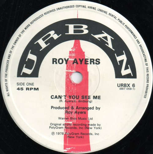Cover Roy Ayers - Can't You See Me / Love Will Bring Us Back Together / Sweet Tears (12) Schallplatten Ankauf