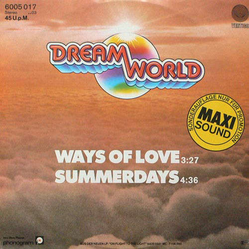 Cover Dreamworld (3) - Ways Of Love / Summerdays (12) Schallplatten Ankauf