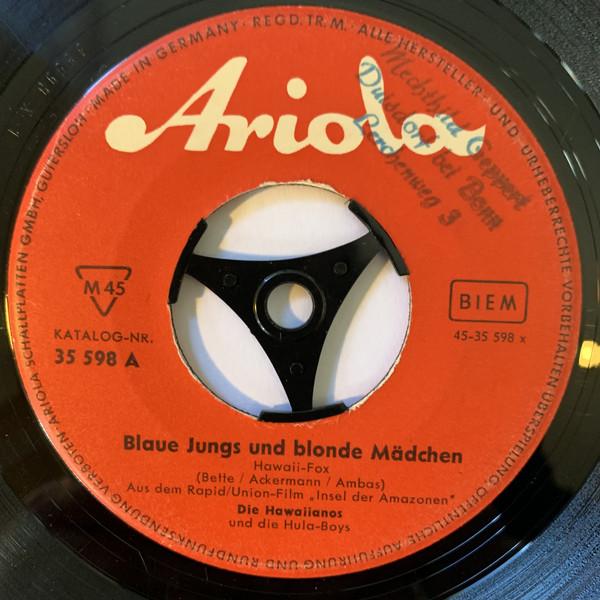 Cover Die Hawaiianos - Blaue Jungs Und Blonde Mädchen (7, Single) Schallplatten Ankauf