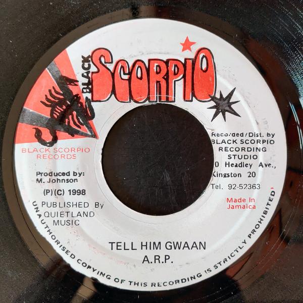 Cover zu A.R.P. (2) - Tell Him Gwaan (7, Single) Schallplatten Ankauf
