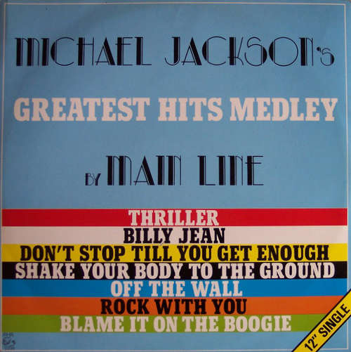 Cover Main Line - Michael Jackson's Greatest Hits Medley (12, Single) Schallplatten Ankauf
