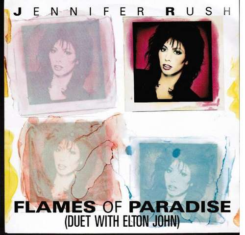 Bild Jennifer Rush Duet With Elton John - Flames Of Paradise (7, Single) Schallplatten Ankauf