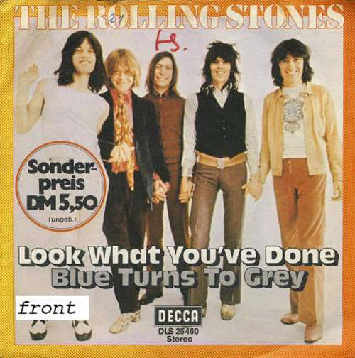 Cover The Rolling Stones - Look What You've Done / Blue Turns To Grey (7, Single, Boo) Schallplatten Ankauf
