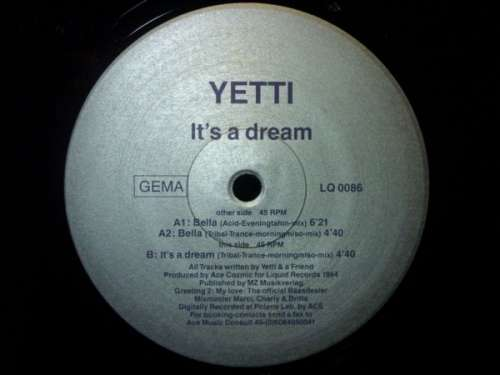 Bild Miss Yetti - It's A Dream (12) Schallplatten Ankauf