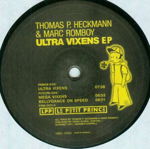 Cover Thomas P. Heckmann & Marc Romboy - Ultra Vixens EP (12, EP) Schallplatten Ankauf