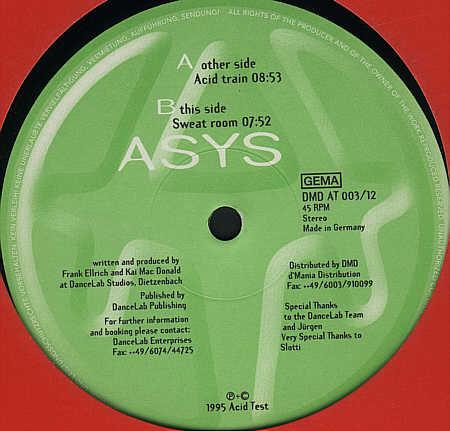 Cover ASYS* - Acid Train / Sweat Room (12) Schallplatten Ankauf