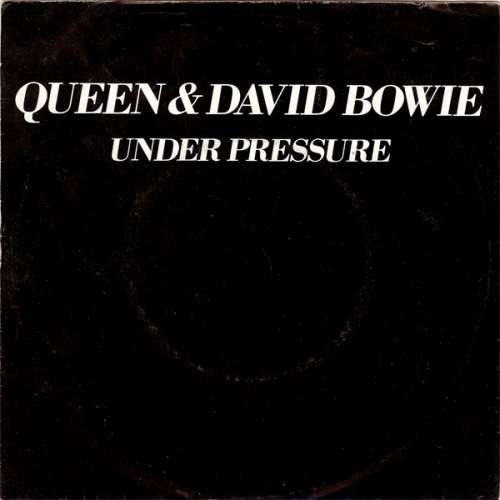 Cover Queen & David Bowie - Under Pressure (7, Single, Bla) Schallplatten Ankauf