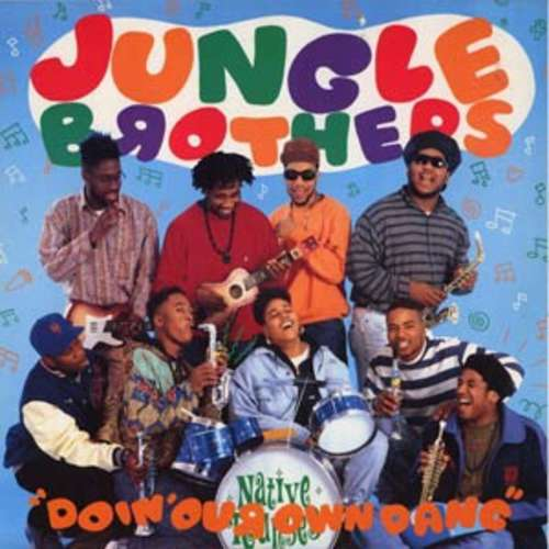 Cover Jungle Brothers Featuring De La Soul, Monie Love, Tribe Called Quest* , And Queen Latifah - Doin' Our Own Dang (12) Schallplatten Ankauf