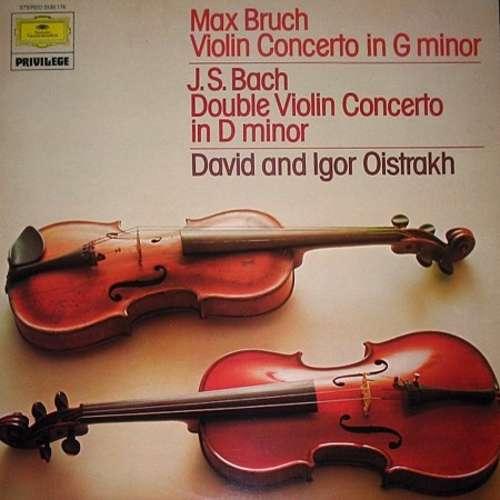 Cover Max Bruch - J. S. Bach*, David* And Igor Oistrach - Violin Concerto In G Minor / Double Violin Concerto In D Minor (LP) Schallplatten Ankauf