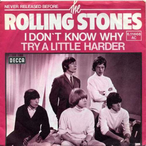 Cover The Rolling Stones - I Don't Know Why / Try A Little Harder (7, Single) Schallplatten Ankauf