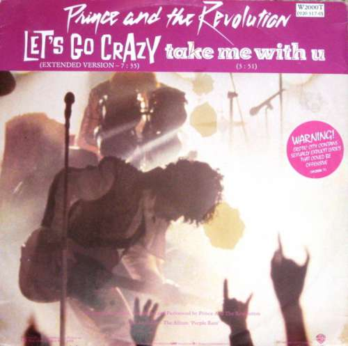 Cover Prince And The Revolution - Let's Go Crazy / Take Me With U (12) Schallplatten Ankauf