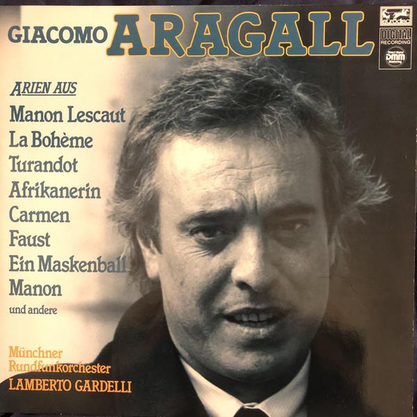 Cover zu Giacomo Aragall - Arien Aus Italienischen Und Französischen Opern (LP) Schallplatten Ankauf