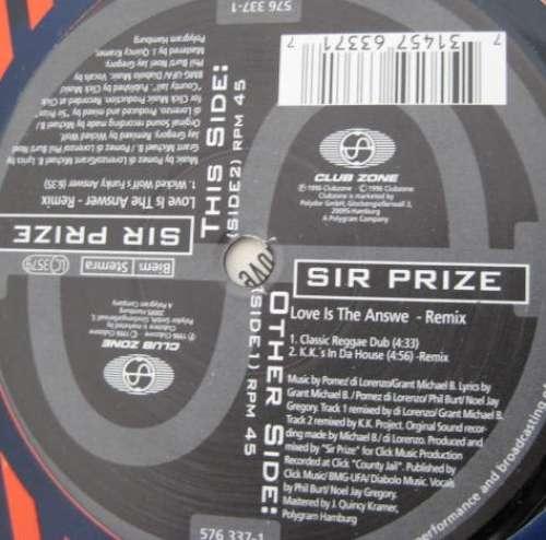 Bild Sir Prize - Love Is The Answer (Remixes) (12) Schallplatten Ankauf