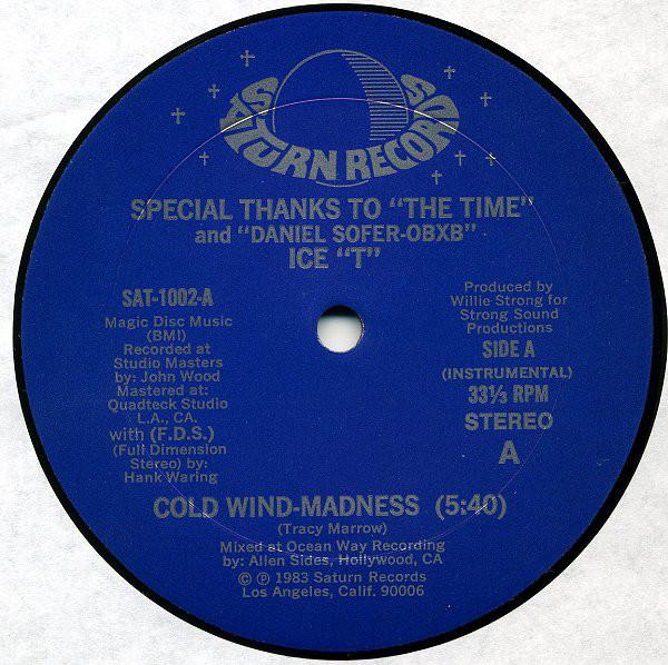 Bild Ice T* - Cold Wind-Madness / The Coldest Rap (12) Schallplatten Ankauf