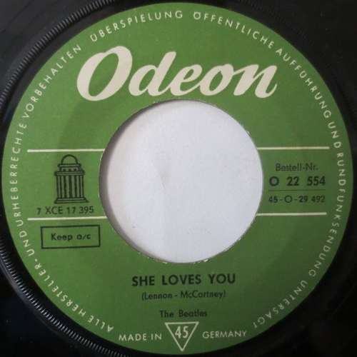 Cover zu The Beatles - She Loves You (7, Single) Schallplatten Ankauf
