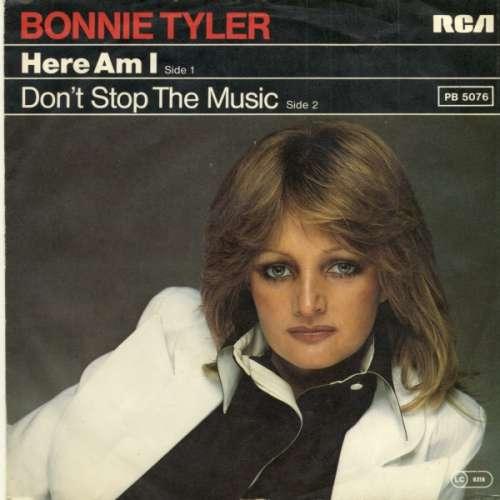 Cover Bonnie Tyler - Here Am I / Don't Stop The Music (7, Single) Schallplatten Ankauf