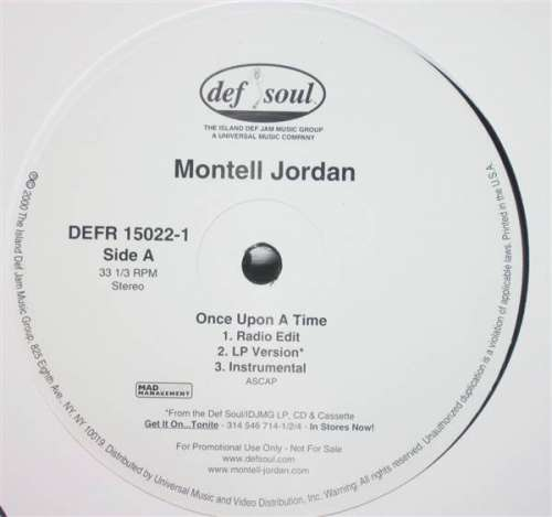Bild Montell Jordan - Once Upon A Time / Come Home (12, Single, Promo) Schallplatten Ankauf