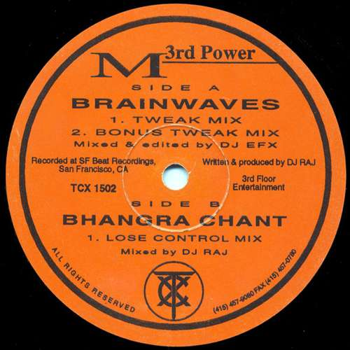 Cover M To The Third Power - Brainwaves / Bhangra Chant (12) Schallplatten Ankauf