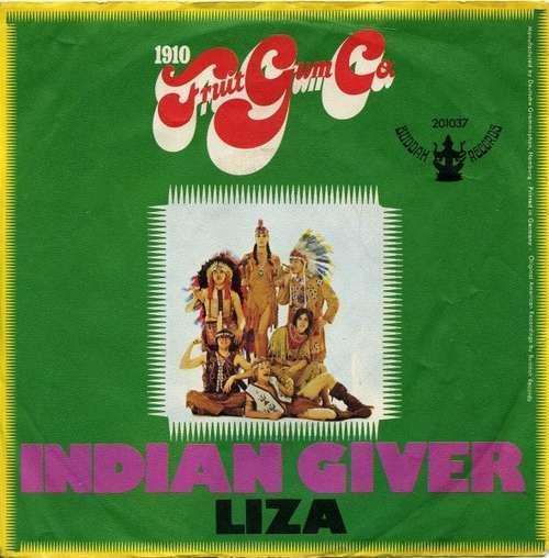 Cover 1910 Fruitgum Co.* - Indian Giver (7, Single, Mono) Schallplatten Ankauf