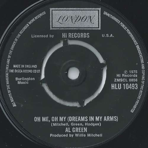 Bild Al Green - Oh Me Oh My (Dreams In My Arms) / Strong As Death (Sweet As Love) (7) Schallplatten Ankauf