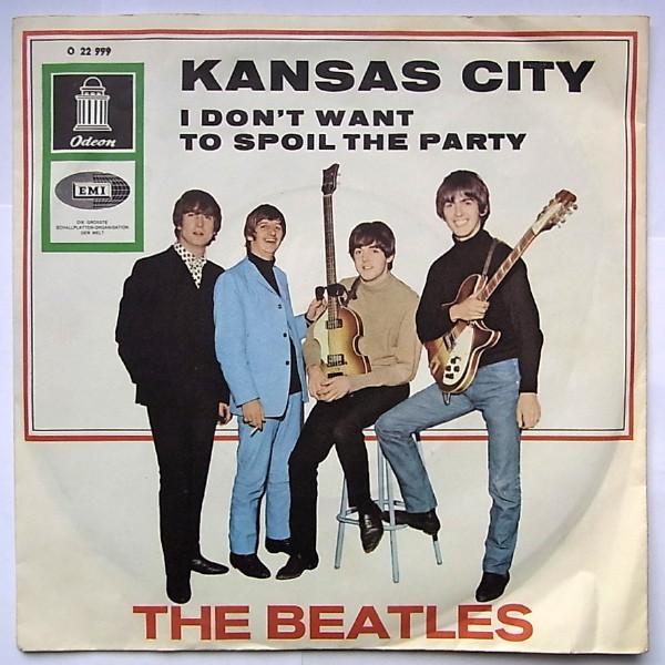 Cover The Beatles - Kansas City (7, Single, Mono) Schallplatten Ankauf