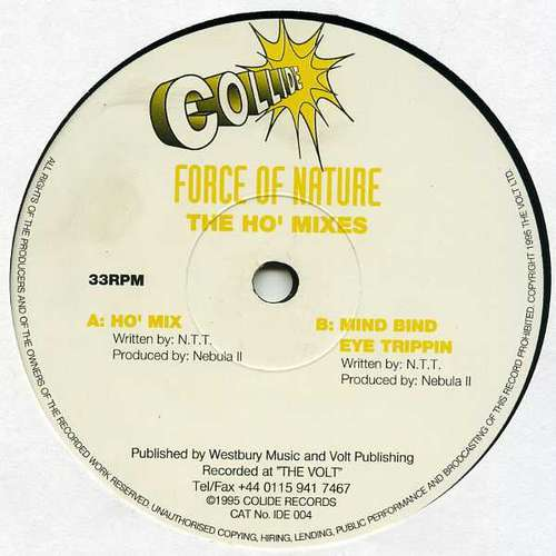 Cover zu Force Of Nature (2) - The Ho' Mixes (12) Schallplatten Ankauf