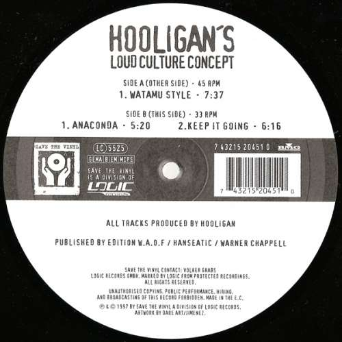 Bild Hooligan's Loud Culture Concept - Hooligan's Loud Coulture Concept (12) Schallplatten Ankauf