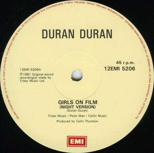 Cover Duran Duran - Girls On Film (Night Version) (12, Single) Schallplatten Ankauf