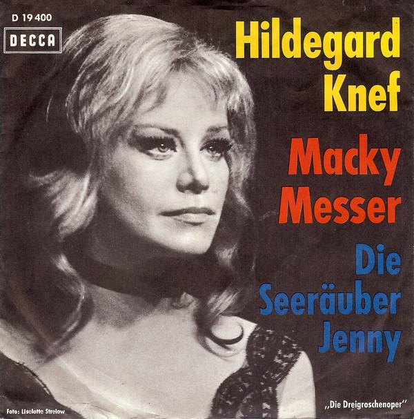 Bild Hildegard Knef - Macky Messer / Die Seeräuber Jenny (7, Single, Mono) Schallplatten Ankauf