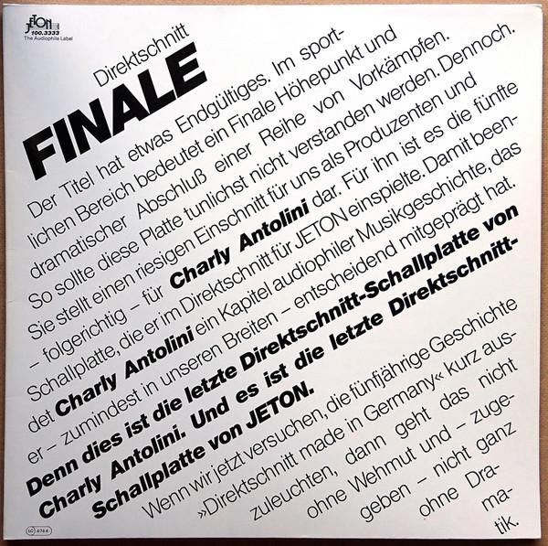 Cover Charly Antolini - Finale (LP, Album, Ltd, dir) Schallplatten Ankauf