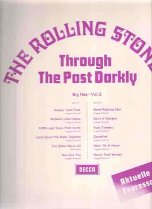Cover zu Rolling Stones, The - Through The Past, Darkly (Big Hits Vol. 2) (LP, RE, Comp, Blu) Schallplatten Ankauf