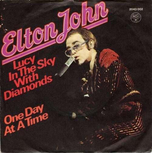 Bild Elton John - Lucy In The Sky With Diamonds / One Day At A Time (7, Single) Schallplatten Ankauf
