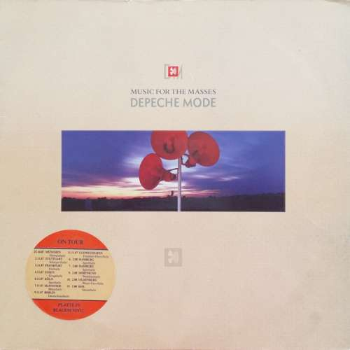 Cover Depeche Mode - Music For The Masses (LP, Album, Blu) Schallplatten Ankauf