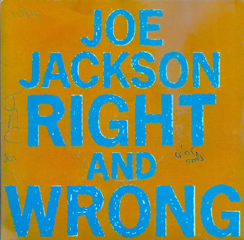 Cover Joe Jackson - Right And Wrong (7, Single) Schallplatten Ankauf