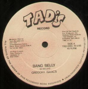 Cover Gregory Isaacs - Bang Belly (12) Schallplatten Ankauf