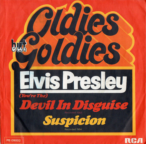 Cover Elvis Presley With The Jordanaires - (You're The) Devil In Disguise / Suspicion (7, Single) Schallplatten Ankauf