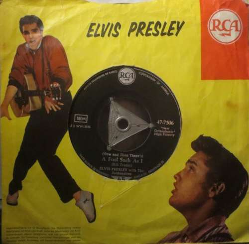 Cover Elvis Presley With The Jordanaires - (Now And Then There's) A Fool Such As I / I Need Your Love Tonight (7, Single) Schallplatten Ankauf