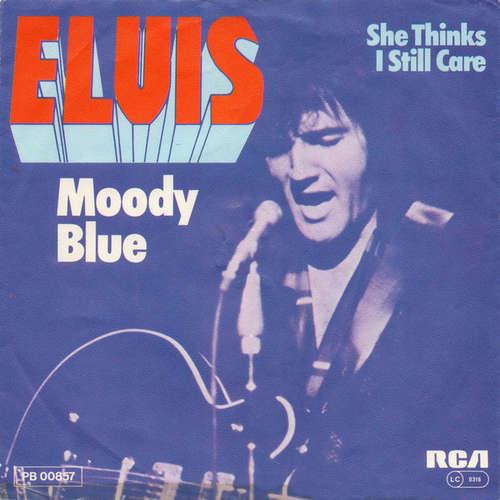 Cover Elvis Presley - Moody Blue (7, Single) Schallplatten Ankauf