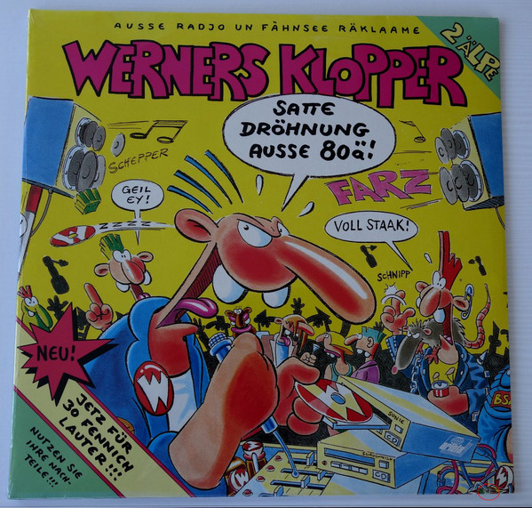 Cover Various - Werners Klopper Ausse 80Ä (2xLP, Comp) Schallplatten Ankauf