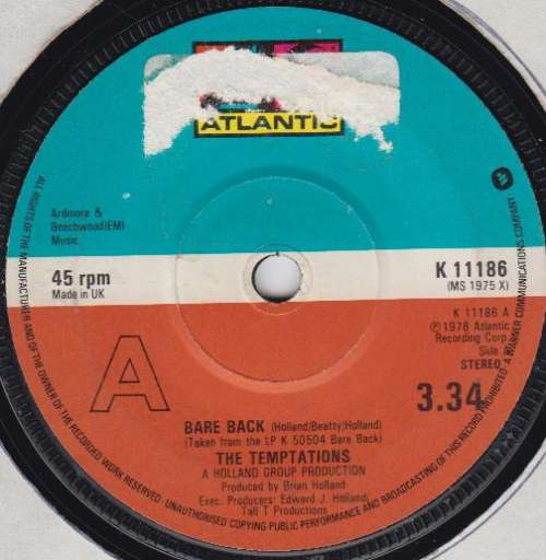 Bild The Temptations - Bare Back (7) Schallplatten Ankauf
