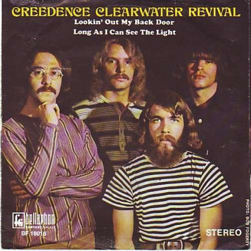 Cover Creedence Clearwater Revival - Lookin' Out My Back Door / Long As I Can See The Light (7, Single) Schallplatten Ankauf
