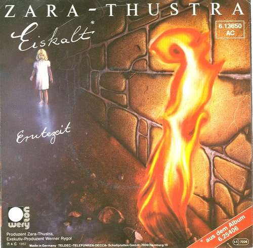 Cover Zara-Thustra - Eiskalt (7, Single) Schallplatten Ankauf
