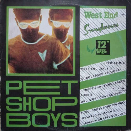 Cover Pet Shop Boys - West End - Sunglasses (12) Schallplatten Ankauf