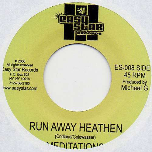 Cover zu The Meditations - Run Away Heathen (7) Schallplatten Ankauf