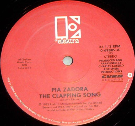 Bild Pia Zadora - The Clapping Song (12, Single) Schallplatten Ankauf